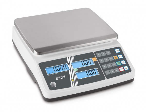 KERN Price Computing Scales - 6 kg / 2 g - white - LCD