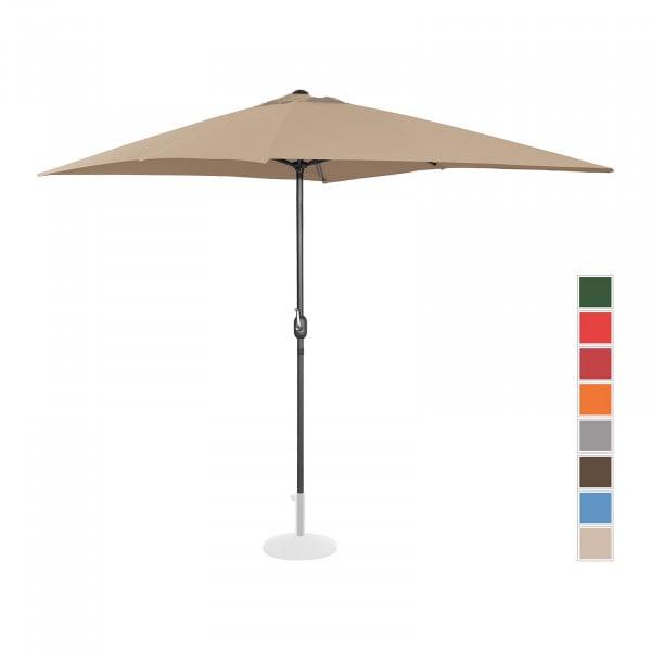 Large Outdoor Umbrella - taupe - rectangular - 200 x 300 cm
