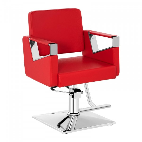 Barber Chair with Footrest BRISTOL RED