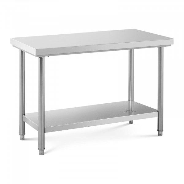 Stainless Steel Work Table - 120 x 60 cm - 110 kg capacity