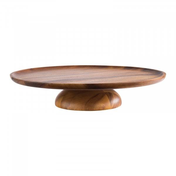 Cake Plate - Oiled acacia wood - diameter: 38.5 cm - height: 8 cm