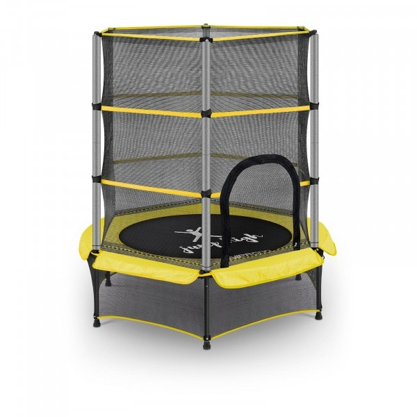 Kid's Trampoline - with safety net - 140 cm - 50 kg - yellow