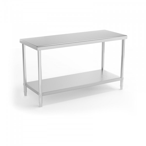 Stainless Steel Work Table - 150 x 60 cm - 230 kg load capacity
