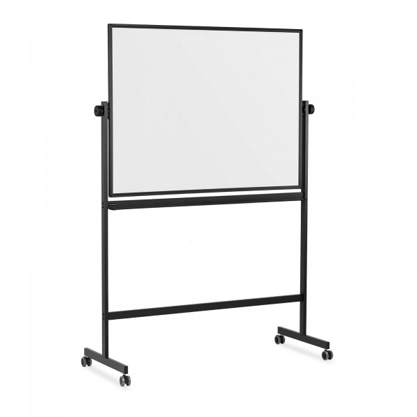 Whiteboard - 90 x 120 cm - double-sided - tiltable - castors