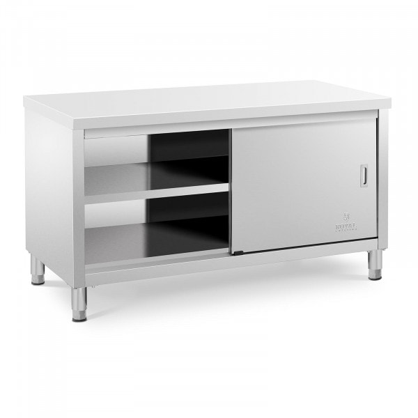 Title Stainless steel work cabinet - 150 x 70 x 85 cm - 600 kg Load capacity