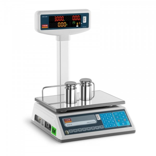 Price Scale with LED display - calibrated - 1.5 kg / 0.5 g - 3 kg / 1 g
