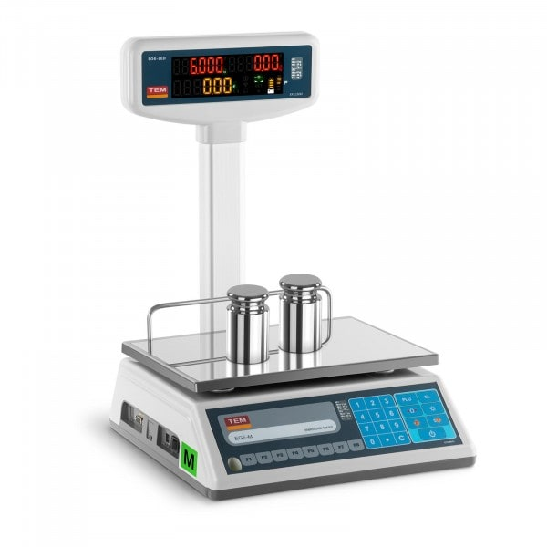 Price Scale with LED display - calibrated - 3 kg / 1 g - 6 kg / 2 g
