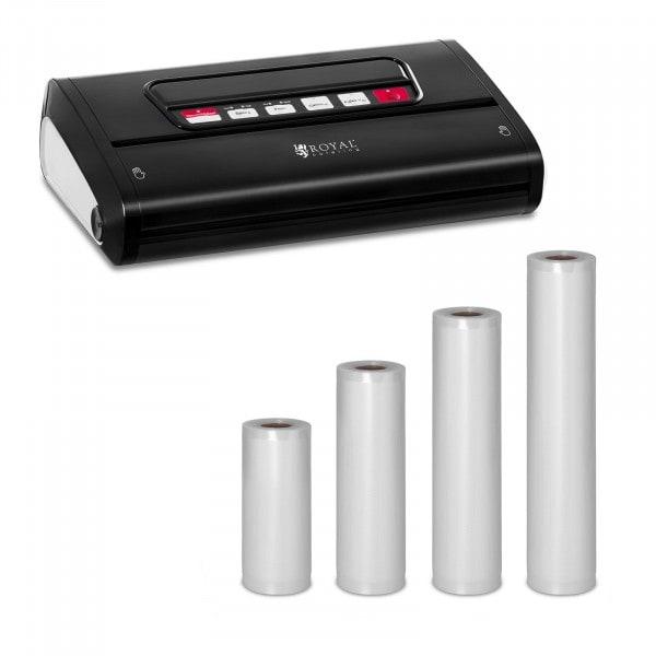 Food Vacuum Sealer Set with 4 Vacuum Bags - 15 to 30 cm - ABS - 32 cm - Black Edition