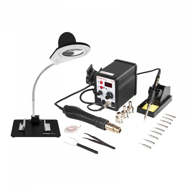 Set Soldering Station - 60 Watt - LED Display + Accessoires