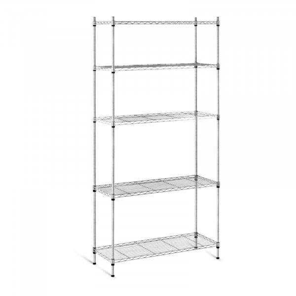 Metal Storage Rack - 35 x 90 x 180 cm - black