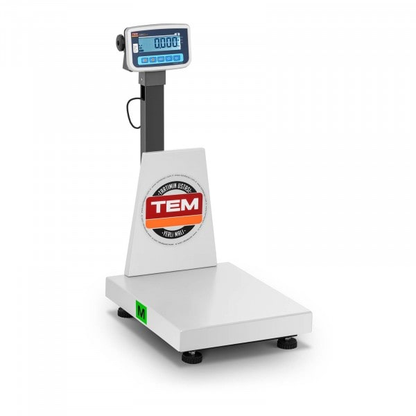 Platform Scale - officially calibrated 150 kg / 50 g - anti-static