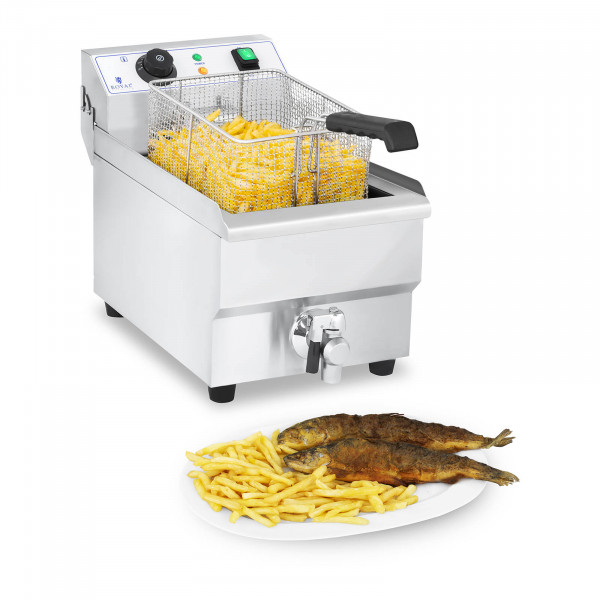 Electric Deep Fryer - 10 L with Drain Tap