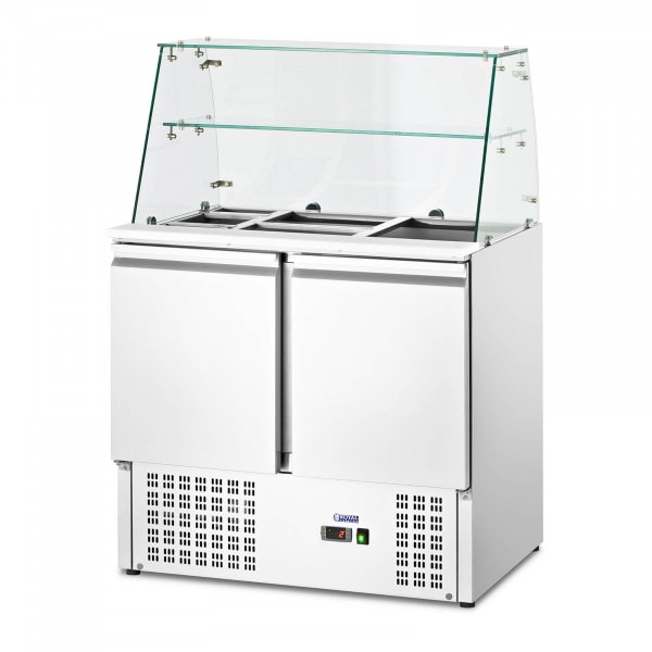 Salad Bar - with glass top - Royal Catering - 240 L - for 7 GN containers - 90 x 70 cm