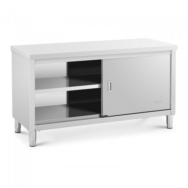 Stainless steel work cabinet - 150 x 60 x 85 cm - 600 kg Load capacity