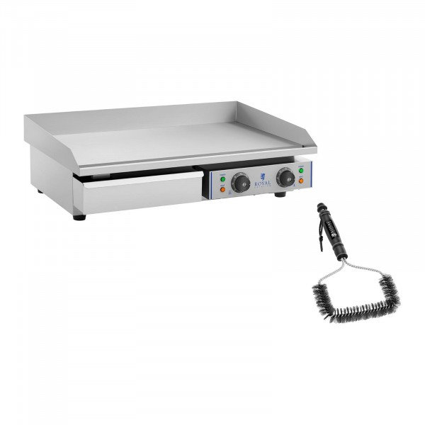 Double Electric Griddle Set with Grill Brush - 72.5 cm - smooth - 2 x 2,200 W