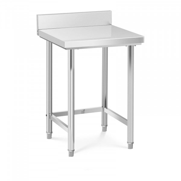 Stainless Steel Work Table - 64 x 64 cm - upstand - 200 kg capacity
