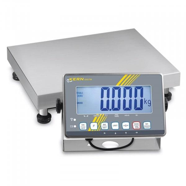 Gesamtansicht von KERN SXS 100K-2M Plattformwaage mit Edelstahl-IP68-Auswertegerät