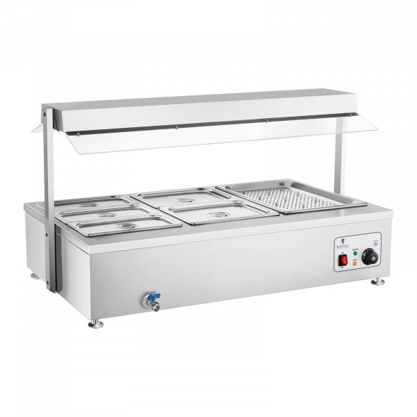 B-WARE Bain-Marie - 6 GN - with meat attachment and drain tap