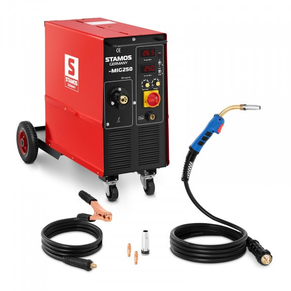 MIG/MAG Welding Machine - 250 A - 400 V - duty cycle 60% - with cart