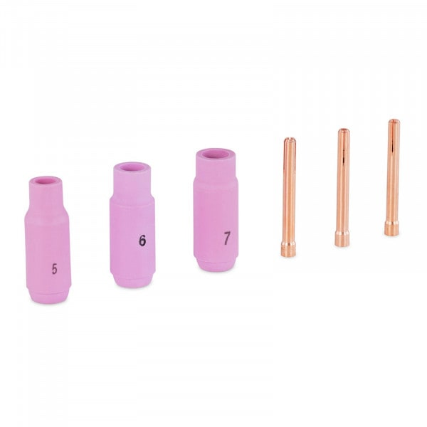 TIG Spare Parts Set - Welding Tips up to 2.4 mm