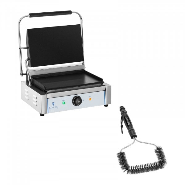 Contact Grill and Grill Brush Set - smooth - 2,200 W