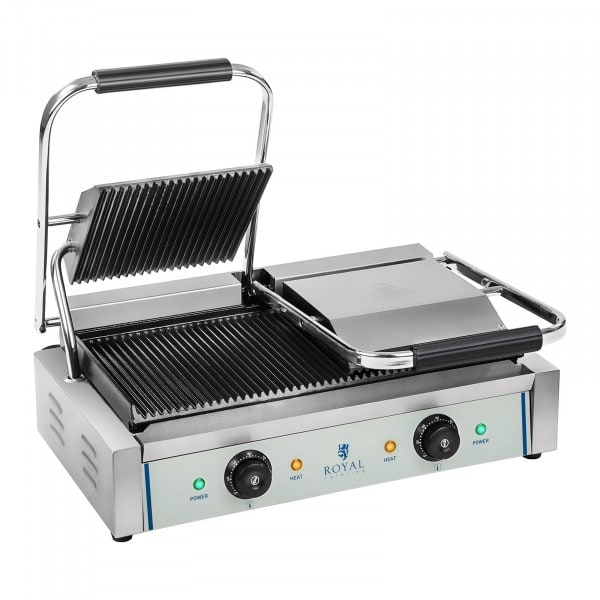 Double Contact Grill - Ribbed - 2 x 1,800 W