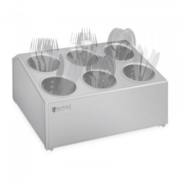 Cutlery container - Stainless steel - For 6 cutlery holders