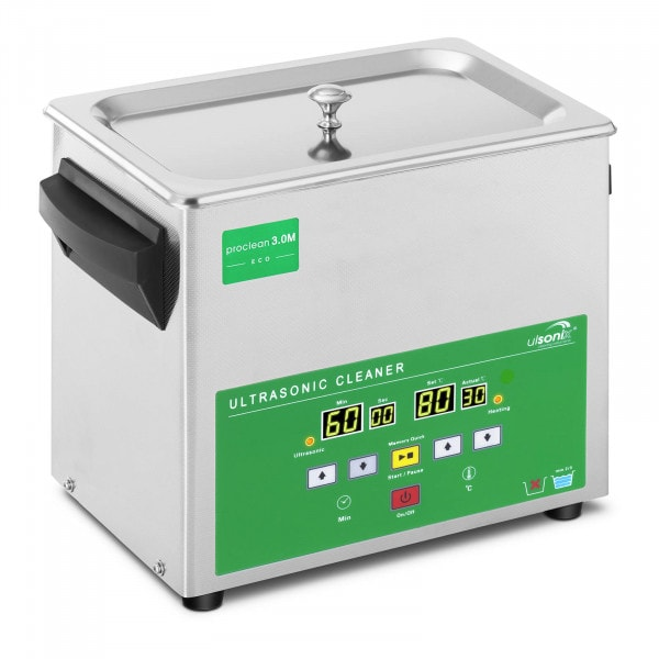 Ultrasonic Cleaner - 3 Litres - 80 W - Memory-Quick Eco