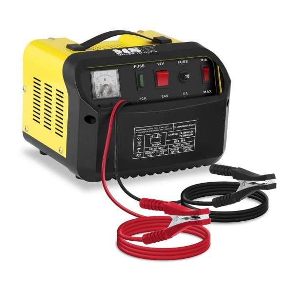 B-WARE Heavy Duty Battery Charger - 12/24 V - 15/20 A - Diagonal Control Panel