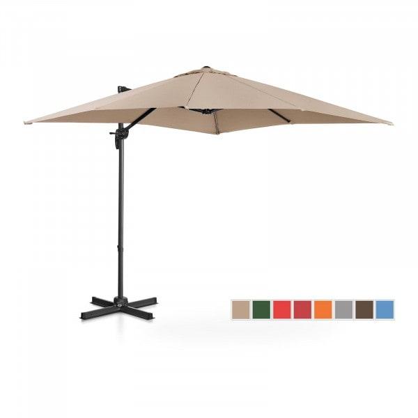 Hanging Parasol - creme - square - 250 x 250 cm - rotatable
