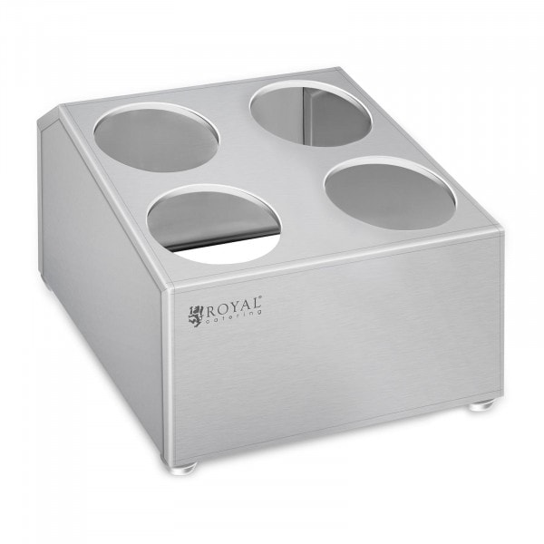 Cutlery container - Stainless steel - For 4 cutlery holders