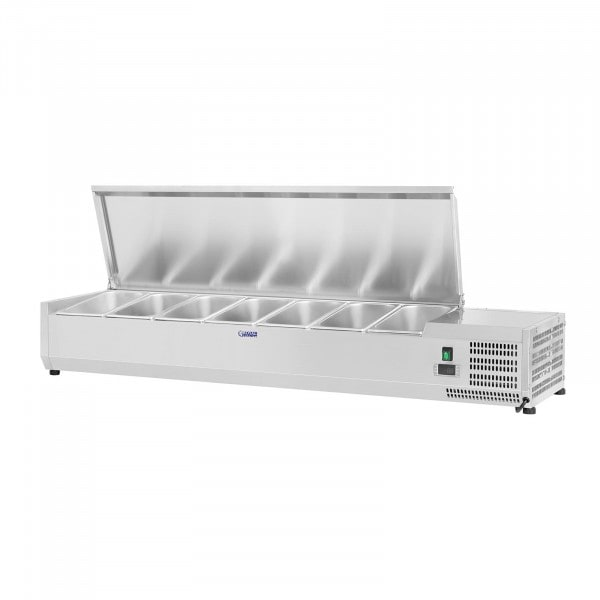 Countertop Refrigerated Display Case - 150 x 33 cm - 7 GN 1/4 Containers
