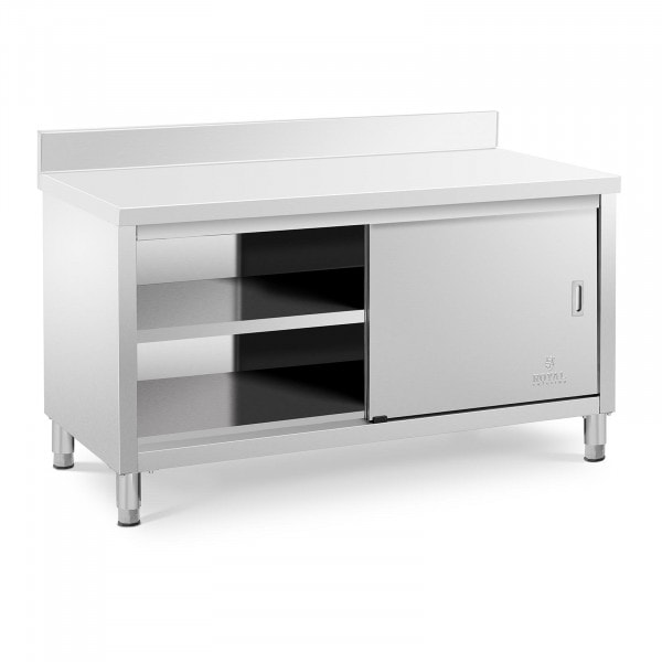 Stainless Steel Work Cabinet - 150 x 70 x 85 cm - Load Capacity - 600 kg