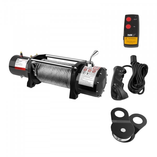 Electric Winch - 4.310 kg - 9,500 lbs - Incl. Pulley