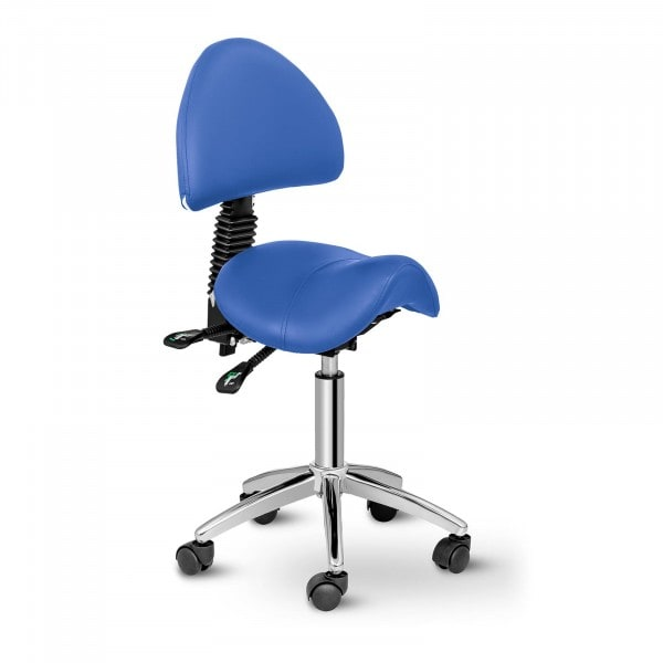 Saddle Chair with Back Support PHYSA BERLIN BLUE