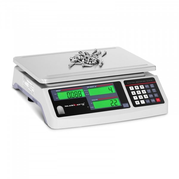 Factory second Counting Scale - 30 kg / 1 g - 3 LCD - battery 72 hrs