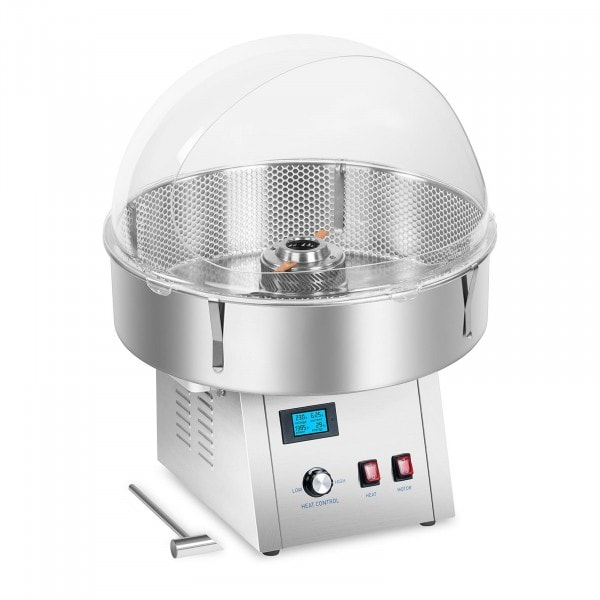 Candy Floss Machine Set with a Net and Splatter Guard- 62 cm - Stainless Steel