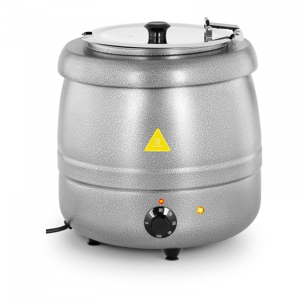 Soup Kettle - 10 L - Steel - silver-coated