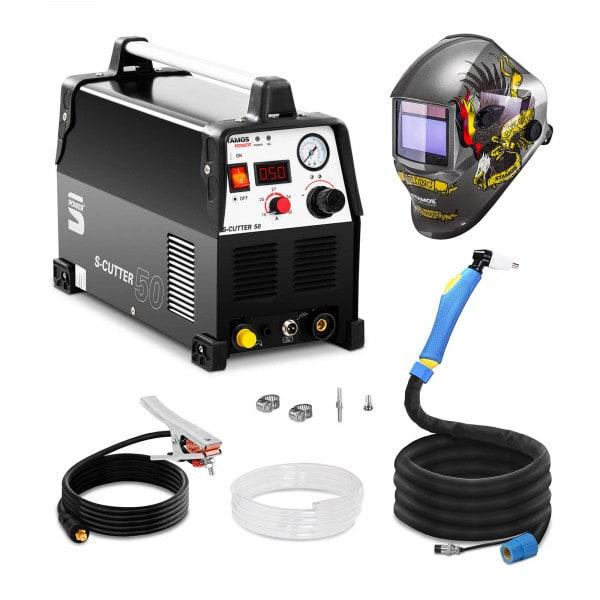 Welding Set Plasma Cutter - 50 A - 230 V - Pro + Welding helmet – Eagle Eye - ADVANCED SERIES
