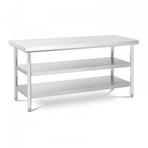 Stainless Steel Work Table - 60 x 180 cm - 600 kg - 3 levels